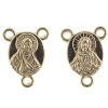Connector- Religious 3Loop Sacred Heart 12x9.75mm Gold 10pcs